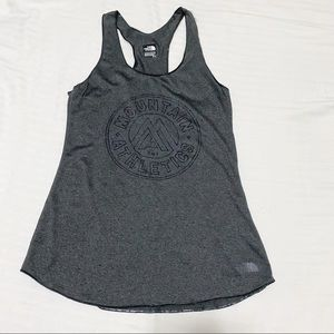 The North Face Play Hard Mountain Athletics Racerback Tank, Charcoal Gray, Small
